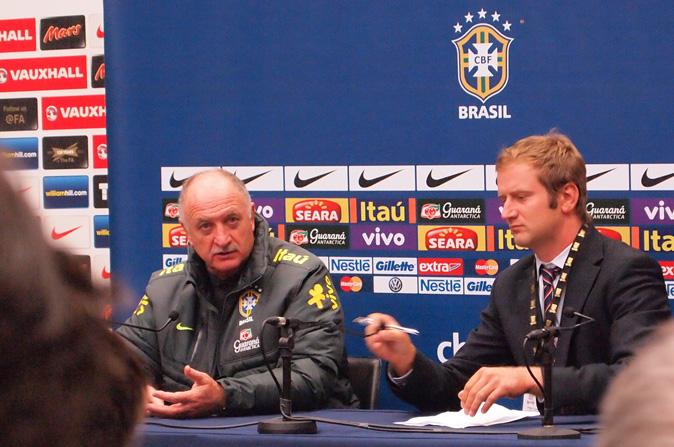 Pressekonferanse i Wembley